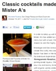 Classic cocktails made new at Mister A's