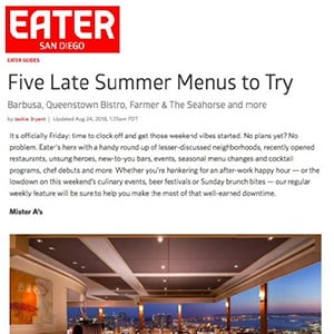 Eater San Diego Mister A's Restaurant Feature
